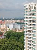 High Rise Apartments. Closeup of an apartment block in Singapore Stock Images