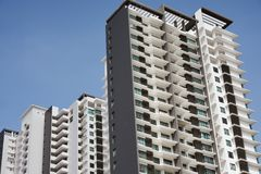 High rise apartments. Blocks of residential apartments in Singapore stock image