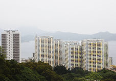 High rise apartments in Hong Kong Royalty Free Stock Photo
