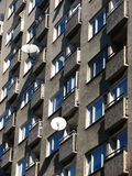 High rise apartments with satellite dishes. Royalty Free Stock Photography