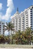 Art deco architecture on South Beach in Miami stock image