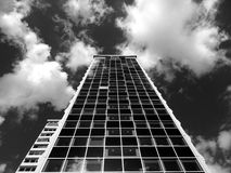 High rise in black and white Stock Photos