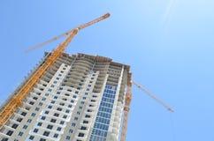 High-rise Bouwwerf Stock Afbeeldingen