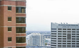 High rise buidling in city. High rise buildings in city view Royalty Free Stock Photo