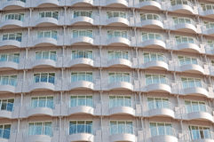 High-rise building. Modern building with a lot of balconies and windows Royalty Free Stock Photos