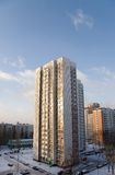 High-rise building. In Moscow Stock Photos