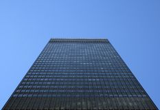High-rise building. Perspective view of a high-rise rectangular building stock image