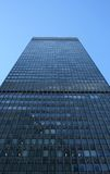 High-rise building. High-rise rectangular building, view from below royalty free stock photography