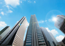 High-rise building. Modern high-rise building in Tokyo Royalty Free Stock Photos