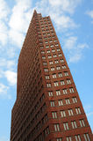 High-rise building. Perspective view of a high-rise building stock image