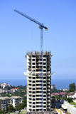 High-rise building on a background of sea horizon Royalty Free Stock Image
