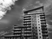 High rise building in black and white Royalty Free Stock Images
