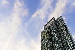 High rise building in blue sky Royalty Free Stock Photo