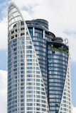 The high-rise building. On bright sky Royalty Free Stock Photo