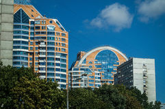 High-rise building in the capital of Russia - Moscow. Royalty Free Stock Photos