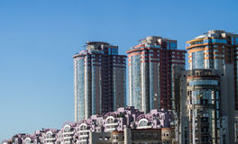High-rise building in the capital of Russia - Moscow. Royalty Free Stock Image