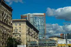 High-rise building in the capital of Russia - Moscow. Royalty Free Stock Photo