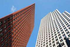 High Rise Building during Clear Blue Sky Stock Photography