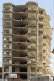 High-rise building concrete structure in construction process at Dubai Royalty Free Stock Image