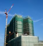 High rise building construction Royalty Free Stock Photo