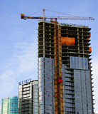 High Rise Building Construction. An image of the construction of a new High Rise Building Royalty Free Stock Photo
