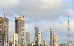 High rise Building construction in India Royalty Free Stock Photo