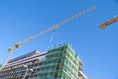 High-rise building construction site Stock Image