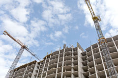 High-rise building construction site Royalty Free Stock Photo