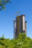 High-rise building construction Stock Images