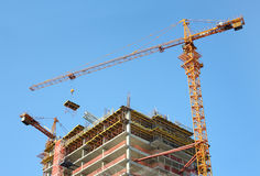 High-rise building construction. royalty free stock photos