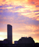 High-rise building at daybreak Royalty Free Stock Photo