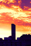 High-rise building at daybreak Royalty Free Stock Photos