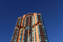 High Rise Building Detail Blu Sky Royalty Free Stock Photography