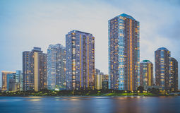 The high rise building Stock Image