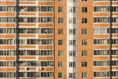 High-rise building front view. Russia, Moscow Stock Photos