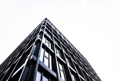 High rise building in glass and steel Royalty Free Stock Image