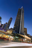 High rise building in Gold Coast, QLD, Australia. At night Royalty Free Stock Photos