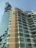 High-rise building in the heart of the beautiful city.  royalty free stock image
