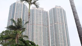 High-rise building in Hong Kong. High-rise building in kowloon Hong Kong royalty free stock image