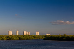 High-rise building on horizon Stock Photography