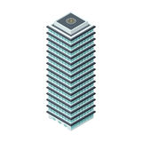 High-Rise Building in Isometric Projection Royalty Free Stock Photo