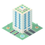 High-Rise Building in Isometric Projection Royalty Free Stock Images