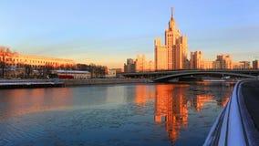High-rise building on Konelnicheskaya Embankment. Moscow stock video