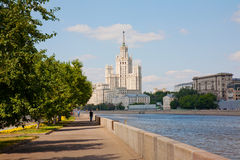 High-rise building on Kotelnicheskaya embankment Stock Images