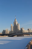 High-rise building on Kotelnicheskaya embankment Stock Photos