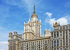 High-rise building on Kotelnicheskaya embankment in Moscow, Russ Stock Image