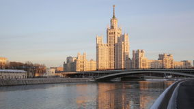 High-rise building on Kotelnicheskaya Embankment stock video