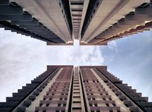 High Rise Building in Low Angle Photography Stock Images