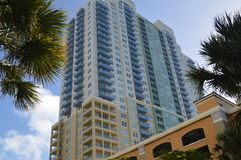 High-rise building in Miami Beach Royalty Free Stock Photos