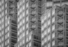 High rise building. High rise modern building as pattern and background stock images